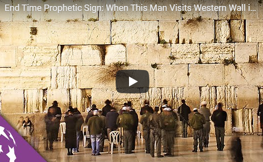 End Time Prophetic Sign: When This Man Visits Western Wall in Jerusalem