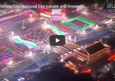 China's 70th National Day parade and fireworks
