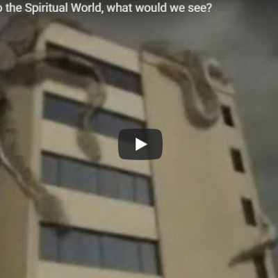 If we could see into the Spiritual World, what would we see?