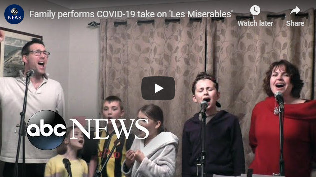 Family performs COVID-19 take on 'Les Miserables'