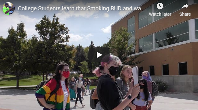 College Students Smoking