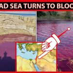 Dead Sea turns blood red before holy day of Yom Kippur
